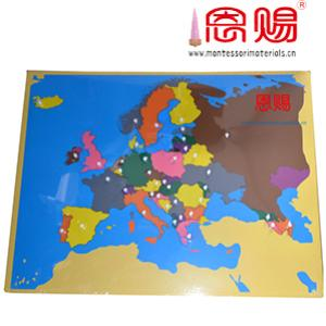 Map puzzle of Europe
