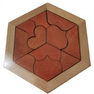 puzzle in wooden tray