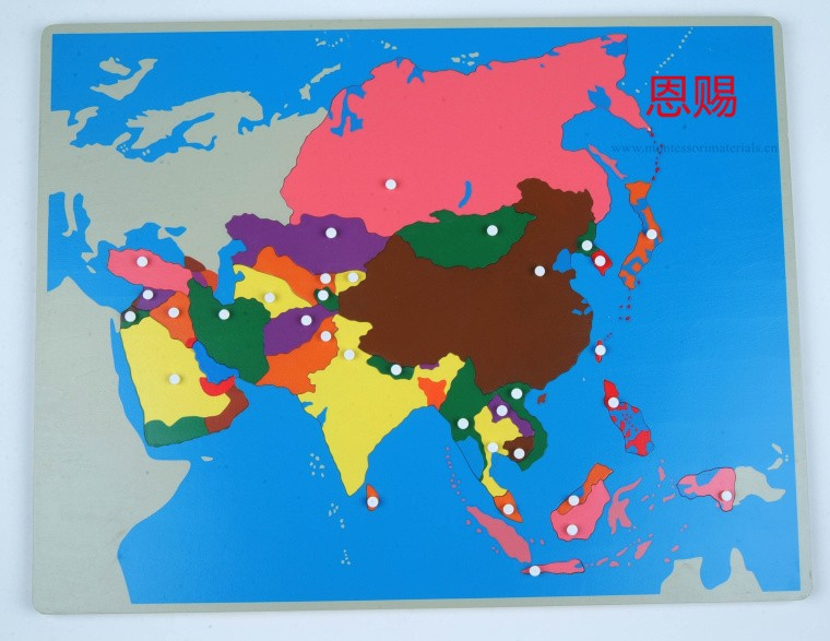 puzzle map of Asia
